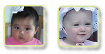 2 photos of small children